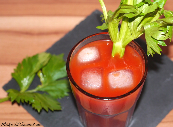 Cocktail Tomate Tomatensaft Wodka Vodka BloodyMary Rezept