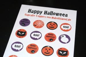 Halloween Cupcake Muffin Topper Ausdrucken Halloweenparty einfach easy