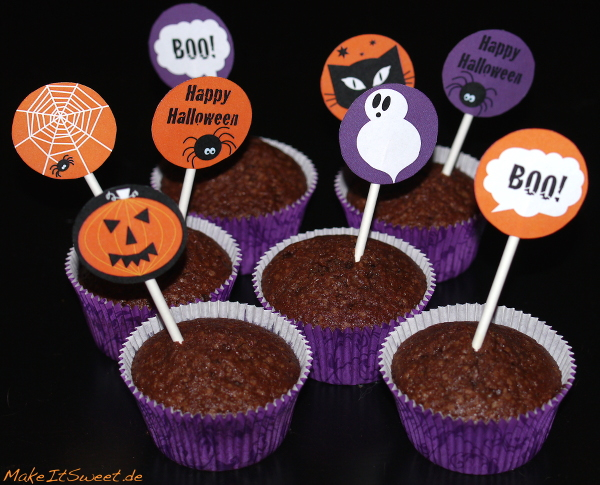 Halloween Cupcake Muffin Topper Free Download Printable