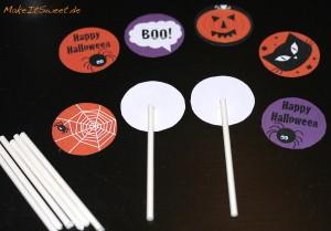 Halloween Cupcake Topper Ausdrucken Ausschneiden einfach