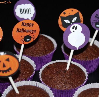 Halloween Halloweendeko Halloweenparty Muffin dekorieren einfach easy