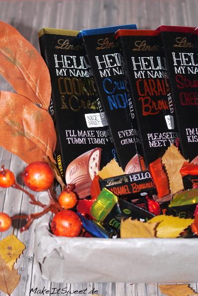 Herbst Geschenk Schokolade DIY