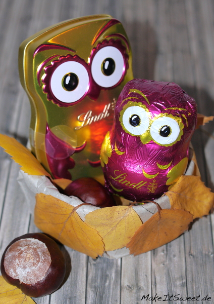 Lindt Eulen Geschenk Schokolade Herbst