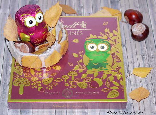 Lindt Eulen Herbstgeschenk Schokolade DIY