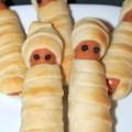 Mumien Halloween einfach Fingerfood Rezept Dekoration