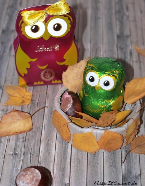 Schokoladengeschenk Lindt Herbst Eule