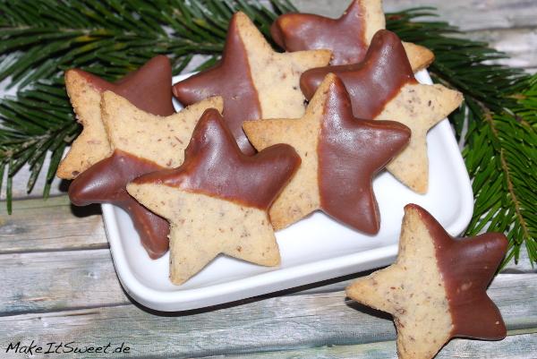 Schokoladen Mandeln Plaetzchen Weihnachten Rezept