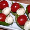 Tomaten Mozzarella Basilikum Spiesse Rezept Haeppchen Fingerfood