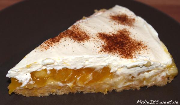 Apfel Mango Kompott Kuehlschranktorte ohne backen Rezept