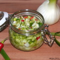 Gurken-Fenchel-Salsa Chili Rezept vegetarisch vegan