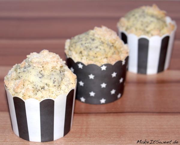 Mohn Streusel Muffin Rezept vegetarisch einfach