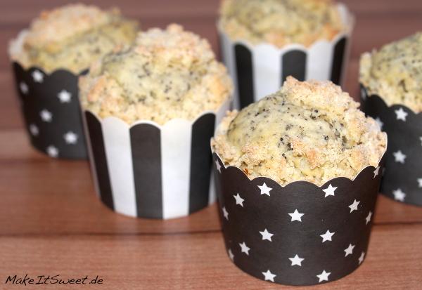Mohn-Streusel-Muffins Rezept schnell einfach