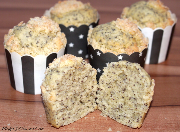 Mohnmuffin Streusel Crumble Muffinrezept