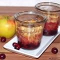 Crumble im Glas mit Obst Cranberry Apfel Rezept