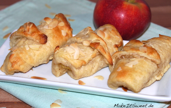 Kleine Apfeltasche suesses Teilchen Plunder Apfel Obst Zimt Rezept