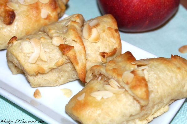 Mini gefuellte Apfel Tasche Rezept Gebaeck