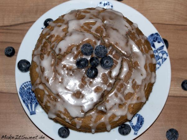 Glutenfreier Blaubeerkuchen Blaubeeren Mandel Kuchen Rezept glutenfrei