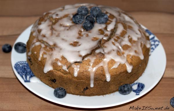 Glutenfreier Kuchen mit Blaubeeren Mandel Rezept glutenfrei