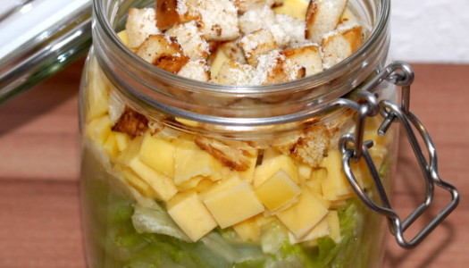 Caesars Salad Rezept – Salat im Glas