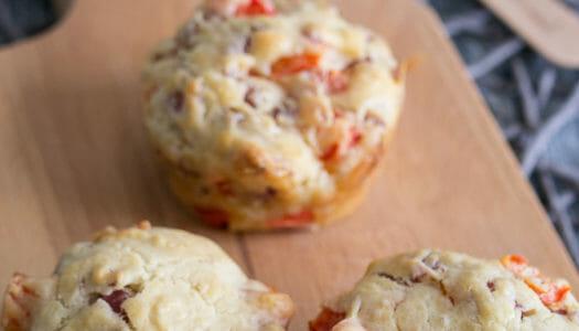 Herzhafte Salami-Paprika-Muffins Rezept