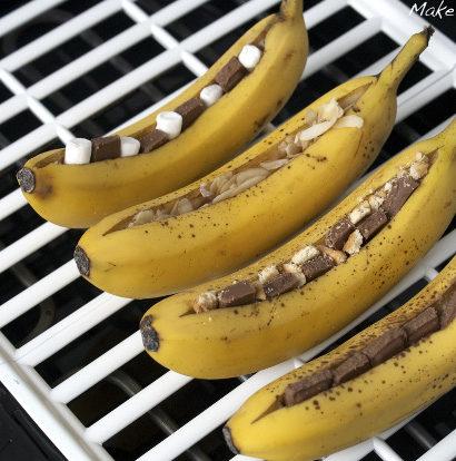 Banane gegrillt Dessert Nachtisch vom Grill Rezept Varianten vegetarisch glutenfrei