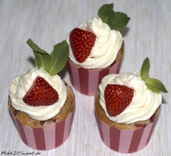 Erdbeere-Minze-Muffins mit Zitronentopping Muffinrezept