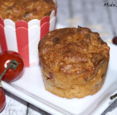 Chilimuffins Hafermuffins vegetarisch Tomaten-Muffins Kaese Rezept
