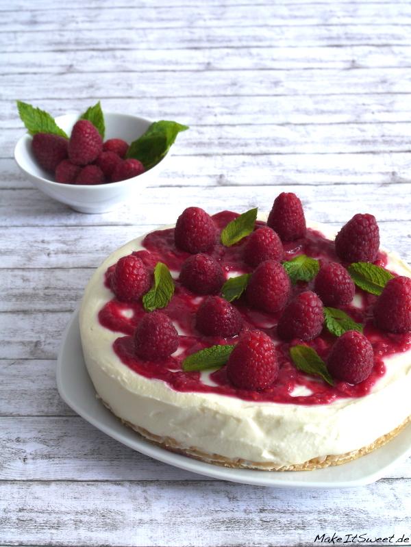Himbeere Minze Torte ohne backen einfach Rezept Quark Schokolade Sommer Sommertorte