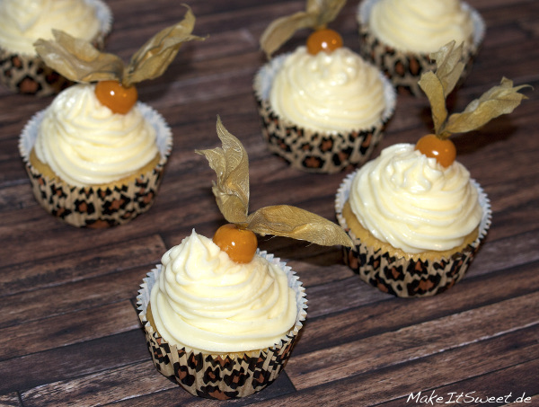 Physalis Cupcake Rezept Topping Frucht Orange