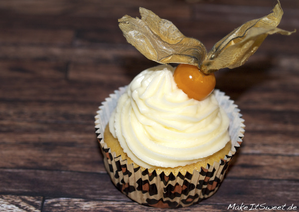 Physalis Muffins mit Topping fruchtig Obst Rezept
