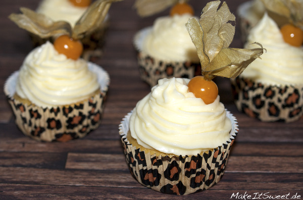 Physalismuffins Orange Topping einfach Rezept