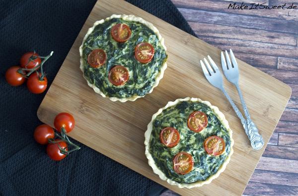 Spinat Ricotta Tomaten Tartelette Vegeatrisch Rezept