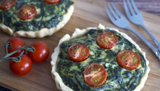 Spinat-Ricotta-Tomaten-Tartelette Rezept
