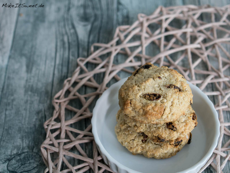 Gojibeeren Haferflocken Keks Cookie Rezept ohne Butter
