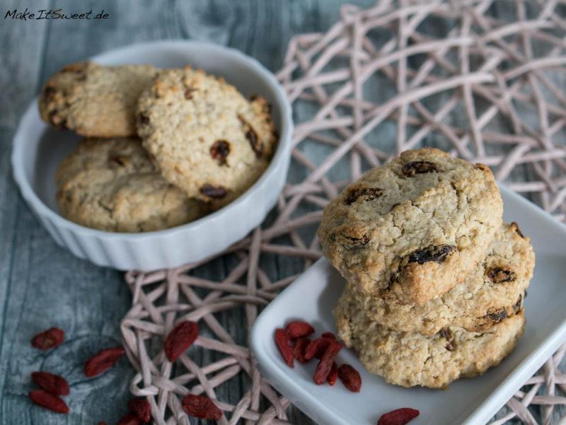 Gojibeeren Haferflocken Kokosmus Superfood Kekse Cookies Rezept