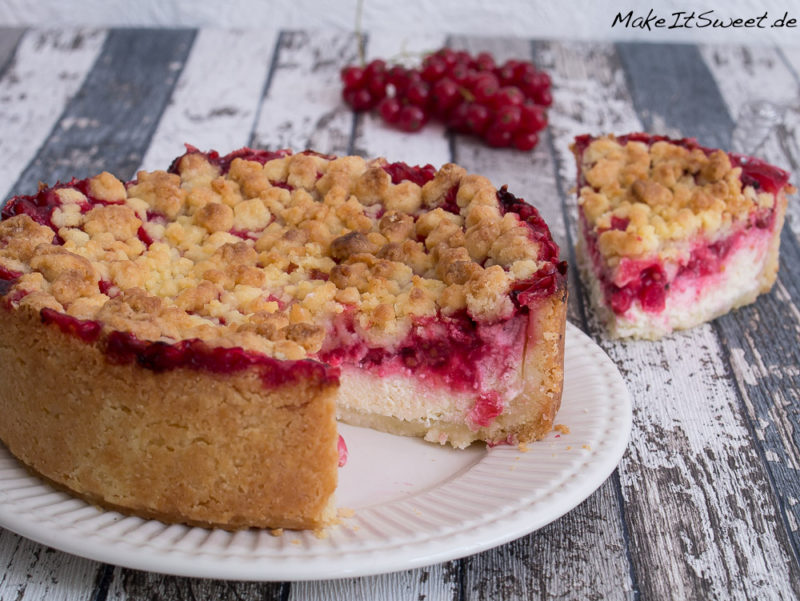 Johannisbeeren Frucht Streusel Quark Kuchen Rezept Sommer