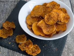 Suesskartoffel Chips Rezept einfach schnell