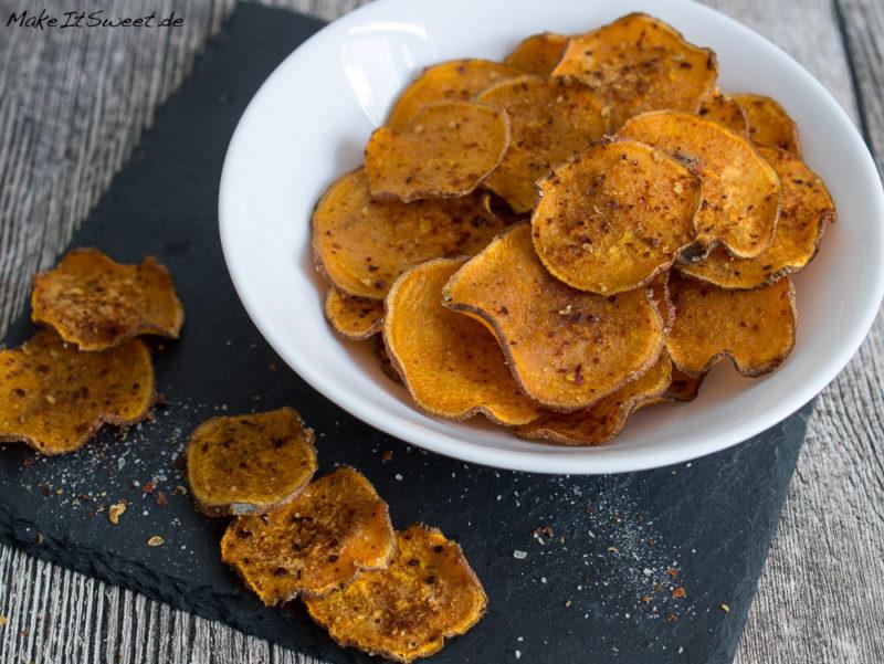 Süßkartoffel Chips Rezept einfach schnell