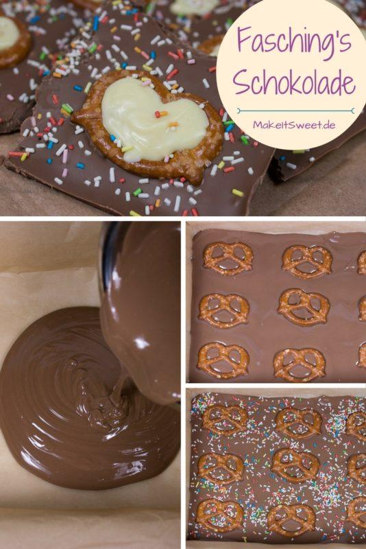 Fasching Karneval Schokolade Brezel Streusel Anleitung Rezept Idee lecker einfach selbstgemacht