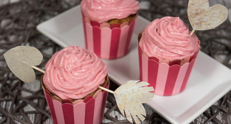 Himbeere Muffins Mit Himbeeren Topping