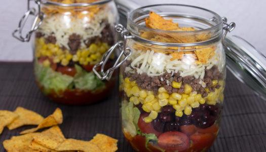 Taco Salat im Glas Rezept