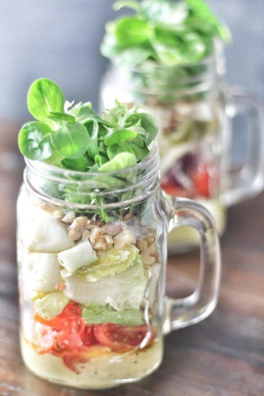 blogparade meinwunderbareschaos Salat mit Gorgonzola Birne und Walnuessen rezept
