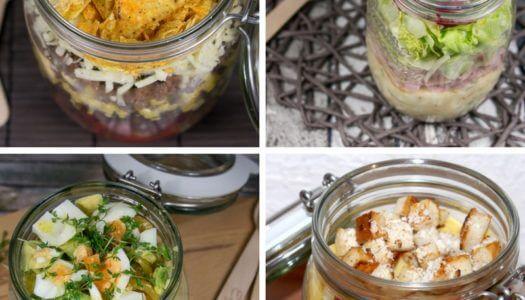 13 Rezepte für Salat im Glas