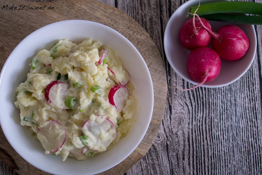 Kartoffelsalat Radieschen Rezept schnell einfach grillen