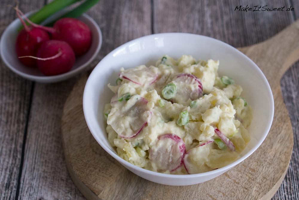 Salat Kartoffeln Radieschen Lauchzwiebel Senf Joghurt Mayonnaise Rezept