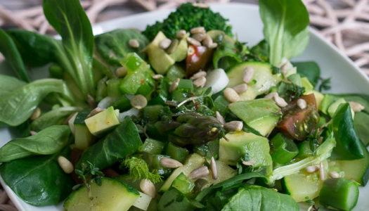 Gemischter grüner Salat mit Unsere Heimat – Echt & Gut von EDEKA {Werbung}