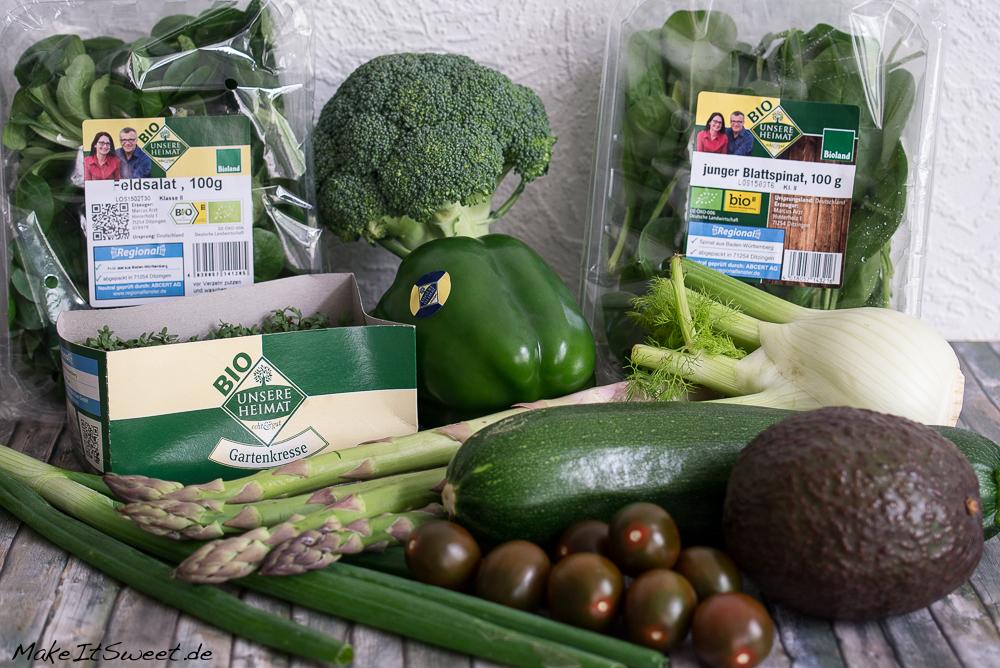 EDEKA Unsere Heimat echt und gut regionalitaet gruener Salat Rezept
