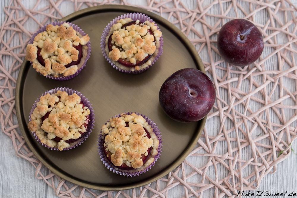 Pflaume Streusel Cupcakes Rezept