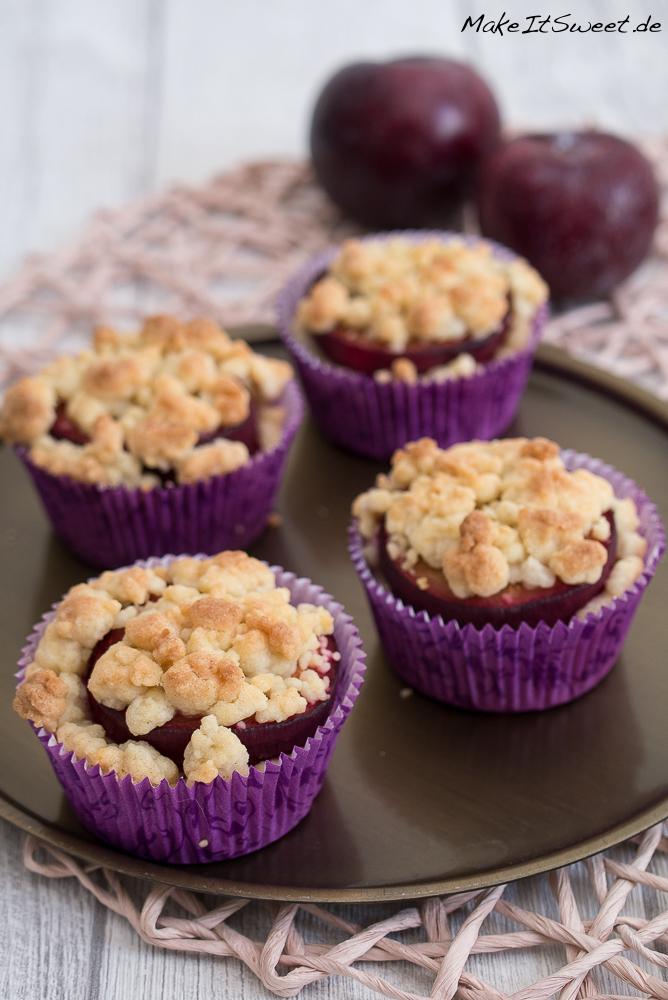 Pflaumen Streusel Muffins Crumble Rezept