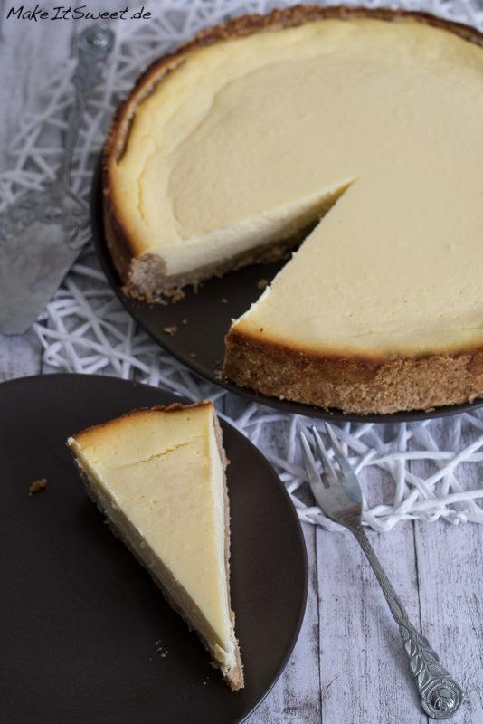 New York Cheesecake Kaesekuchen Rezept einfach lecker amerikanisch backen